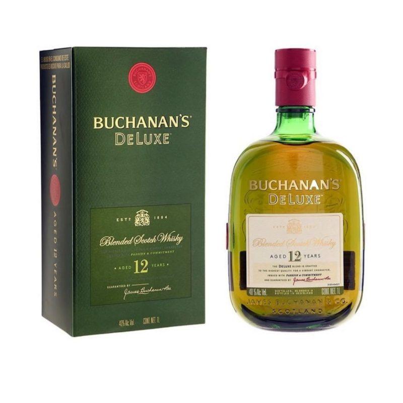 Buchanan Deluxe 12 Anos 1 Litro e1533229498981