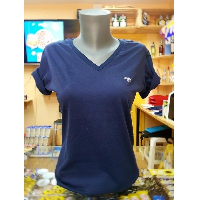 Camiseta Corotos VE Chica Azul Marino Cuello en V