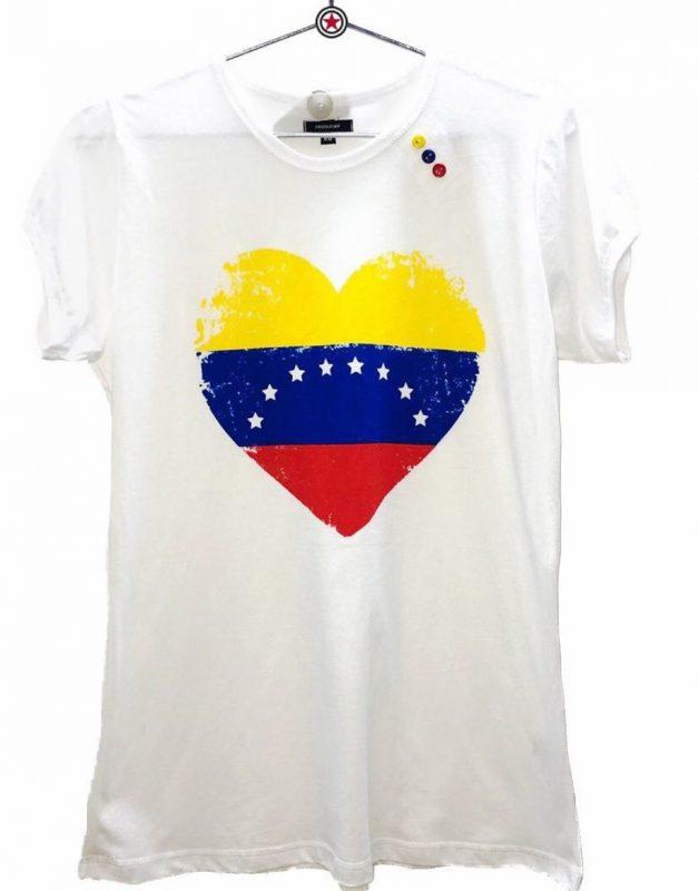 Camiseta Indiani Chica Corazon Bandera e1564518502912