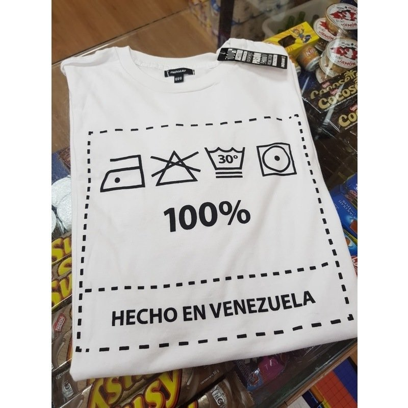 CamisetaChicoHechoEnVenezuela100BlancaEEG