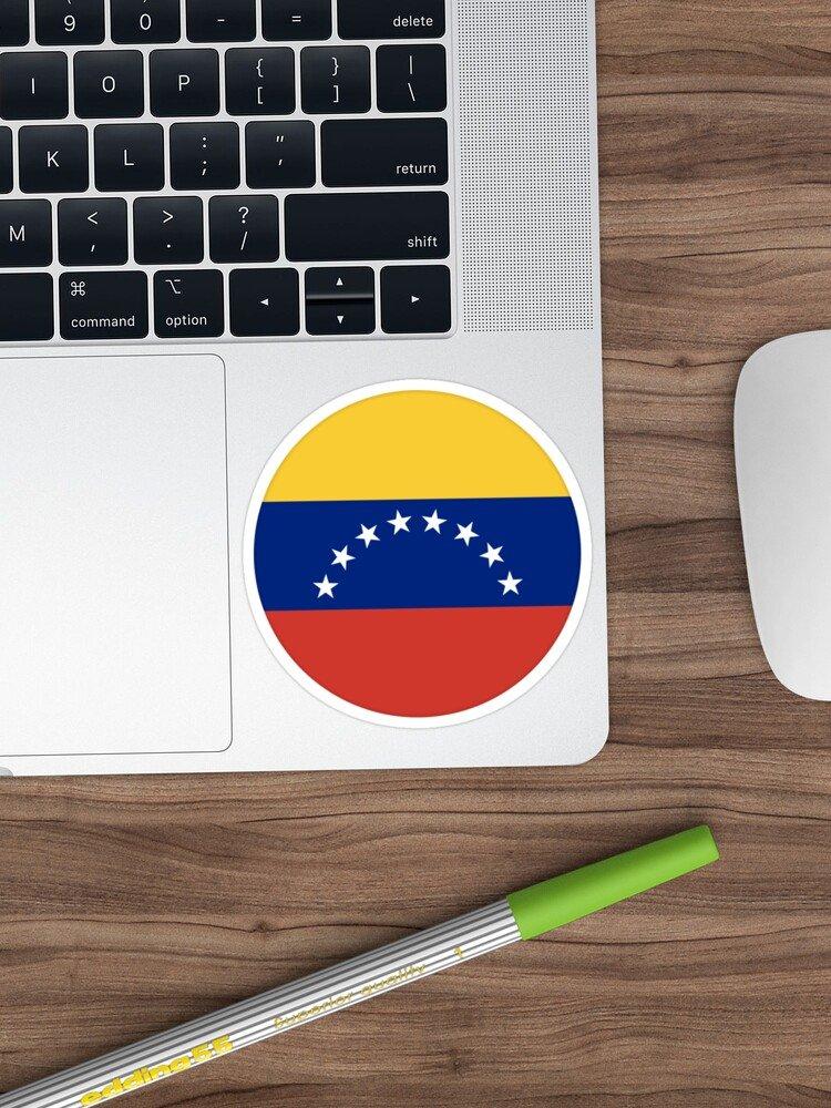 Etiqueta Bandera Venezuela Circulo 45061 2 Pegatina Mandalo Spain