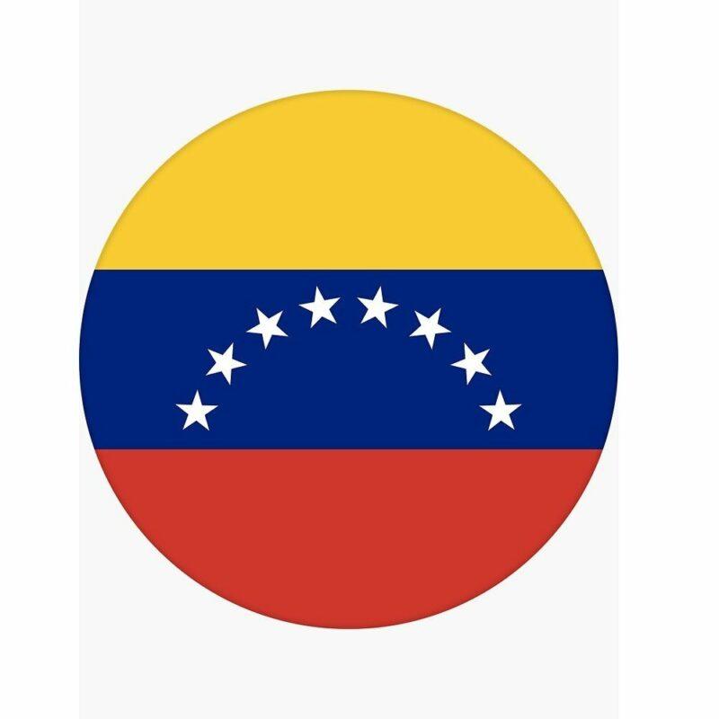 Etiqueta Bandera Venezuela Circulo 45061 Pegatina Mandalo Spain