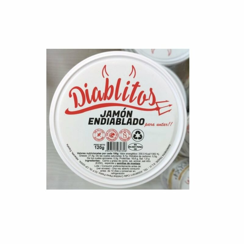 Diablitos Jamón Endiablado para Untar 120 gr 1