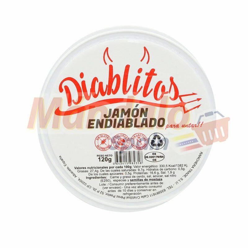 Diablitos Jamón Endiablado para Untar 120 gr