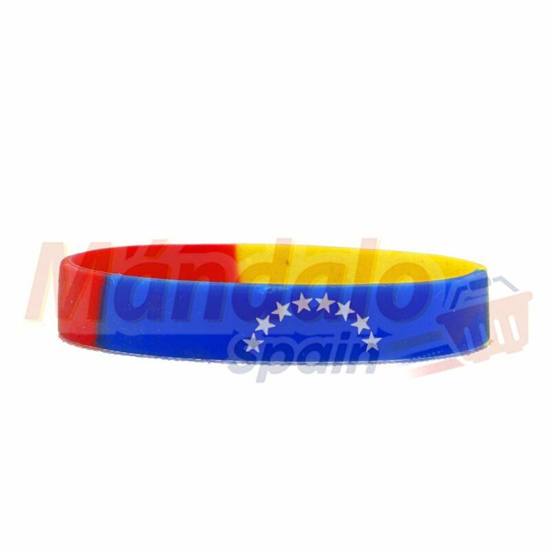 Pulsera Silicona Venezuela Tricolor Pequeña 8 Estrella