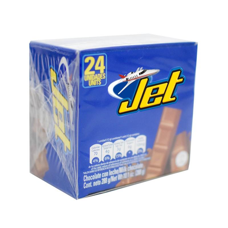 jet chocolate con leche 24 unid