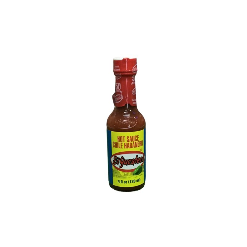 Salsa picante roja Chile habanero